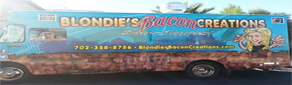 Kelly in Bacon Truck